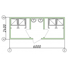 Блок-контейнер с душем на строй площадку