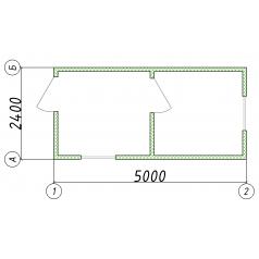 Блок-контейнер проходная 5000x2400x2500 от производителя