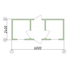 Блок-контейнер 6x2.4м для охраны