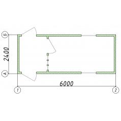Блок-контейнер КПП контрольно пропускной пункт габариты 6.0x2.4x2.34 м