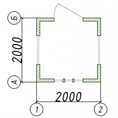 Блок-контейнер 2x2м пост охраны