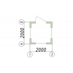 Блок-контейнер пост охраны ДВП 2.00x2.00x2.45 дшв