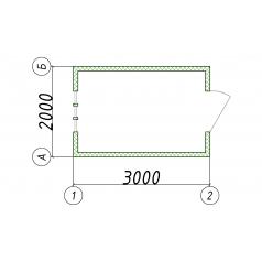 Блок-модуль пост охраны 2000x3000 мм