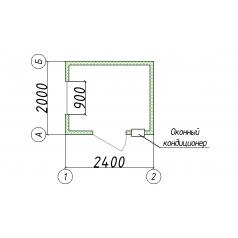 Блок-контейнер охраны 2.5x2 м
