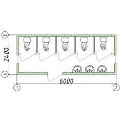 Модульный блок-контейнер туалет, умывальник