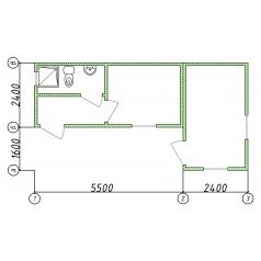Дачный домик из двух бытовок
