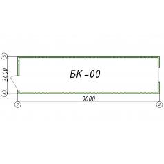 Блок-контейнер БК00 9 метров