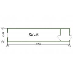 Блок-контейнер БК01 11 метров