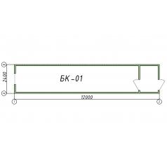 Блок-контейнер БК01 12 метров