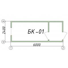 Блок-контейнер БК01 6 метров
