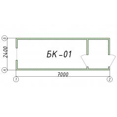 Блок-контейнер БК01 7 метров
