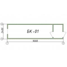 Блок-контейнер БК01 9 метров