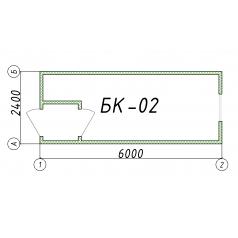 Блок-контейнер БК02 6 метров