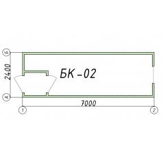 Блок-контейнер БК02 7 метров
