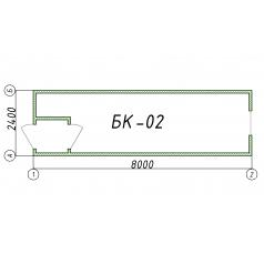Блок-контейнер БК02 8 метров