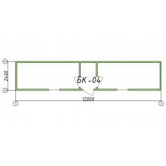 Блок-контейнер БК04 12 метров