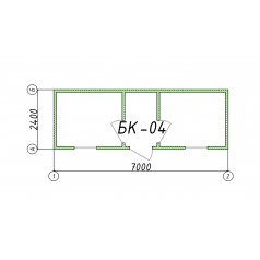 Блок-контейнер БК04 7 метров