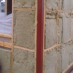 Теплоизоляция наружных граней базальтовым утеплителем 100 мм