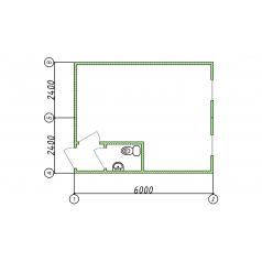 Блок-модуль офисный с туалетом