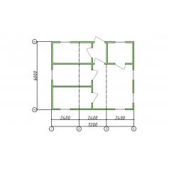 Блок-модуль 6.0x7.2x2.5 штаб