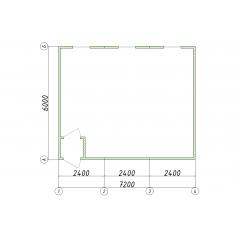 Тройная бытовка 6x7.2 метра