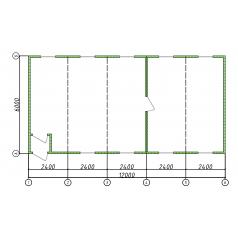 Модульные быстровозводимые конструкции 70 кв.м.