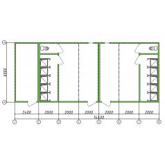 Мобильный душевой комплекс для стройки
