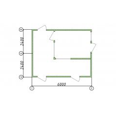 Модульный контрольно-пропускной пункт 6x5м