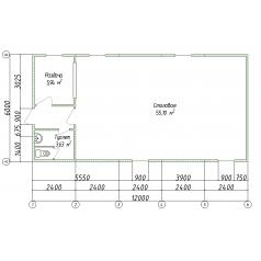 Модульная столовая из каркасного здания