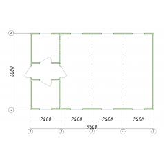 Блочно модульная некапитальная конструкция офис продаж 57.6 м2