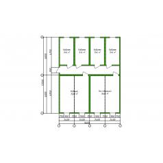 Штаб строительства из восьми блок-контейнеров
