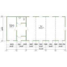 Штаб строительства блочно-модульный из 6-ти блоков
