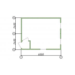 Блок-контейнер сдвоенный штаб 6х4,8 м