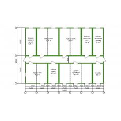 Штаб строительства блочно-модульный на 35 человек