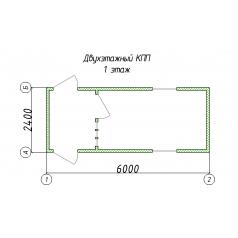 Двухэтажный КПП с проходной