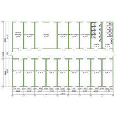 Модульное общежитие из 18 блок модулей