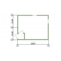 Блок-контейнер столовая 2 секции