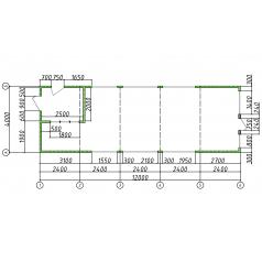 Модульное здание из сэндвич-панелей 48 кв. м.