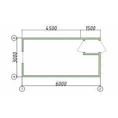 Блок-контейнер 6x3 метра