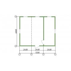 Жилой блок-контейнер 3 секции