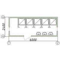 Блок-контейнер сантехнический 5 душевых