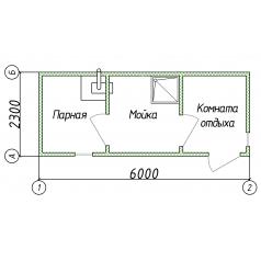 Мобильная баня блок контейнер