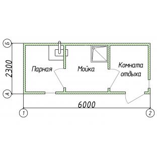 Баня бытовка 6 метров В Новгород