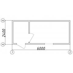 Белый блок-контейнер