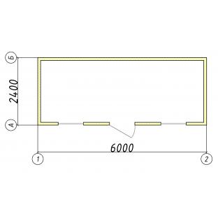 Желтый блок-контейнер