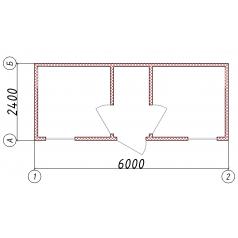 Коричневый блок-контейнер
